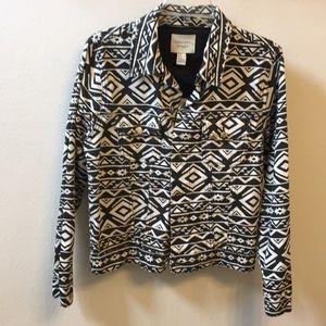 Tribal print woman's blazer
